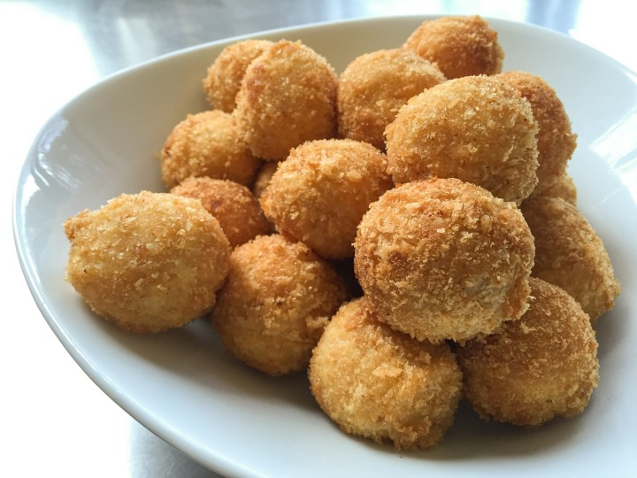 Golden brown ham and cheese croquettes